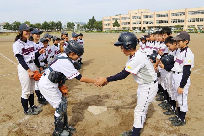六年生壮行試合野球大会